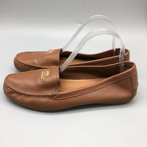 Coach Shoes - Coach Opal brown leather loafers / moccasins